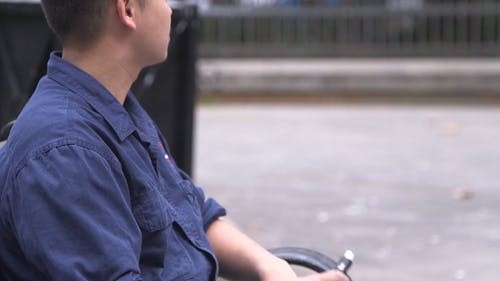 Man Using Vape Device As An Alternative To Smoking