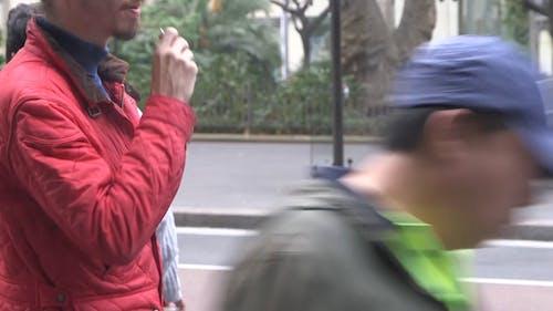 Man Vaping In The Street