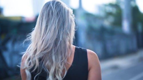 A Walking Woman In A Video Shoot
