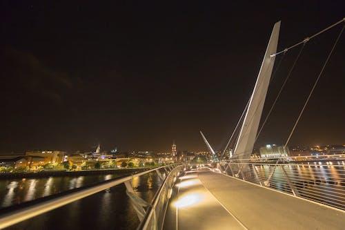 People Walking On A Footbridge Time-Lapse Mode