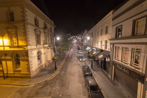 Time Lapse Footage Of A Street  At Night