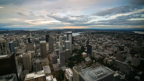 Time Lapse Footage Of A Business District