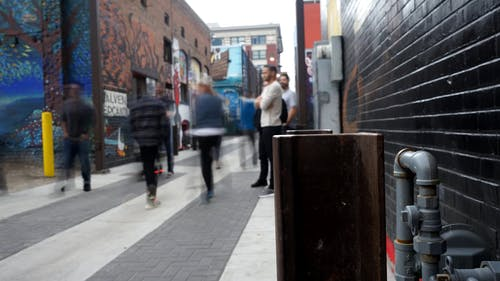 Time Lapse Footage Of A City Alley