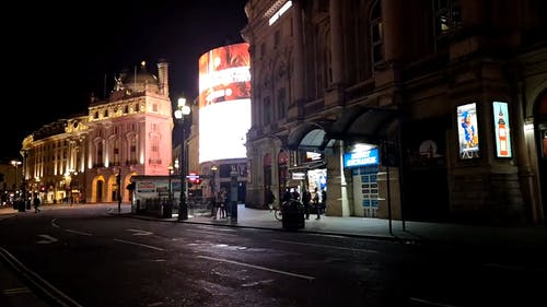A Street In London At Night