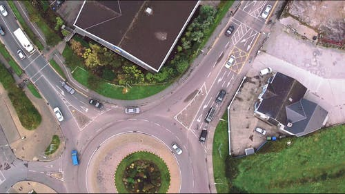 Aerial View Of The Road System In A City