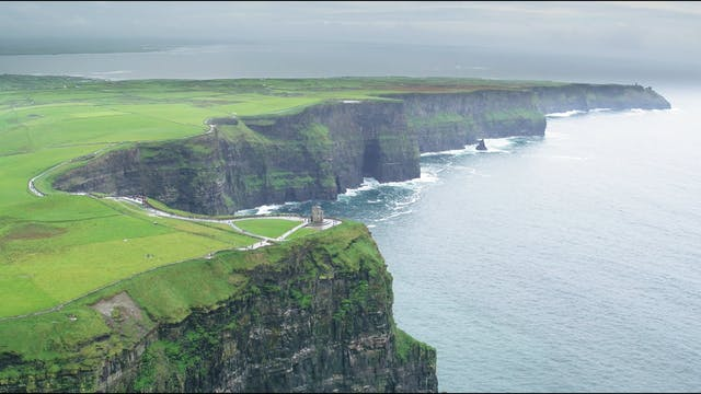 Grass Covered Cliff