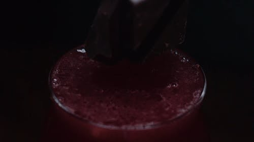Ice Drop In Slow Motion