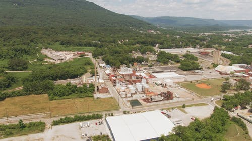Aerial Shot Of Factory