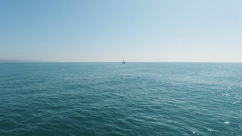 A Sailboat In The Sea