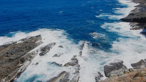 Blue Water With Waves Crashing