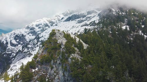 Aerial View Of A Snow covered Mountain