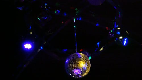 Ball And Light In A  Disco Hall
