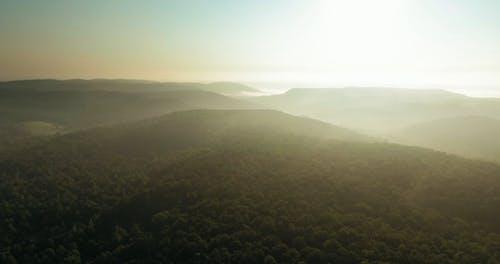 Sun Rays On Mountains Top