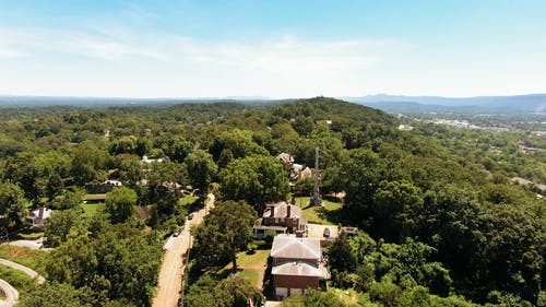 Aerial View Of A Town In Tennessee