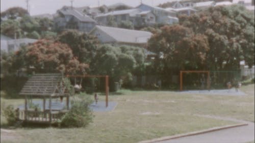 Vintage Shot Of Children Playing In A Park