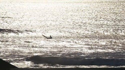 Man Surfing At A Beach