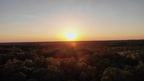 Drone footage Of Sunset