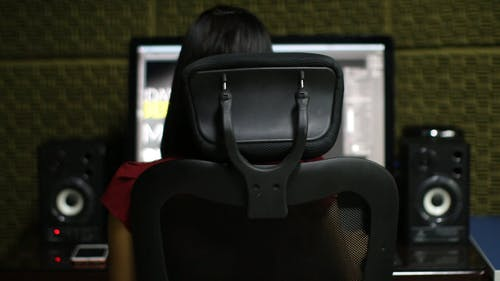 A Woman Using Her Computer