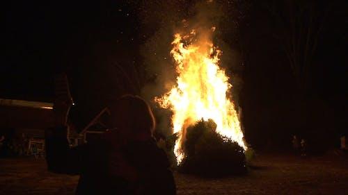 Recording A Bonfire