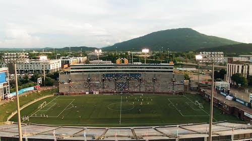 Aerial Footage Of A Football Stadium