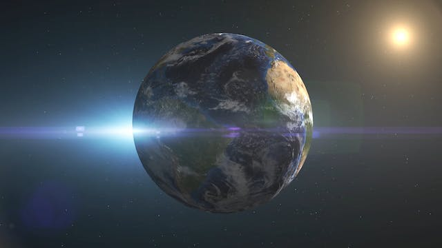 The Planet Earth In Rotation