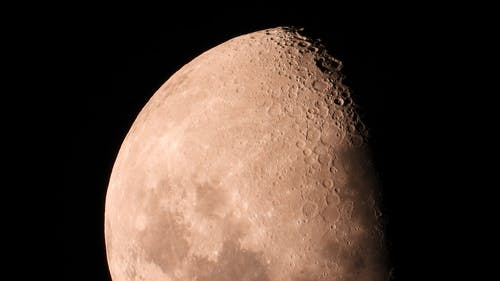A Close-Up Of The Moon In Eclipse