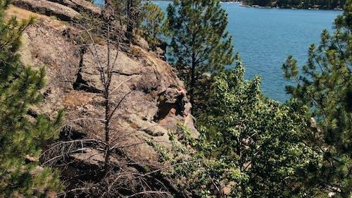 Woman Climbing A Rocky Mountain