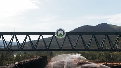 Sprinkling Water On Lumber For Long Storage