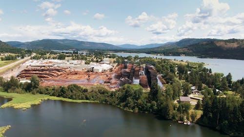 Drone Footage Of A Lumberyard