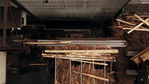 A Lumber Yard In Operation