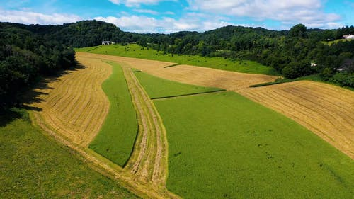 Drone Footage Of  An Agricultural Field