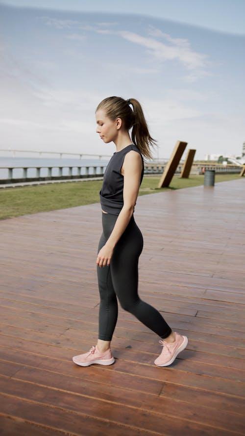 Woman Doing Leg Exercises
