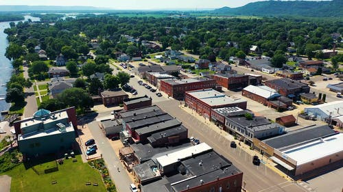 Drone Footage Of A Community