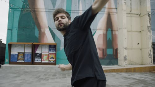 Close-Up View Of Man Dancing Hip-Hop