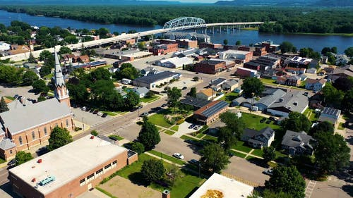 Aerial Footage Of Town