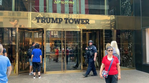 Security At The Entrance To Trump Tower