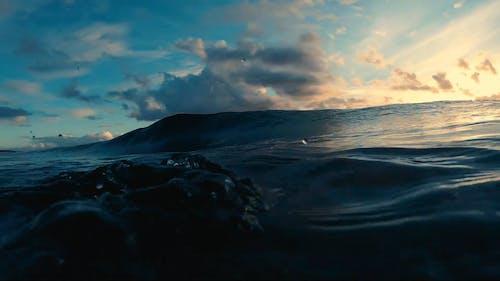 Big Waves In An Ocean