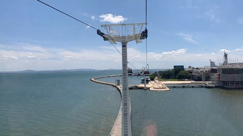 Cable Cars System Built Over Water