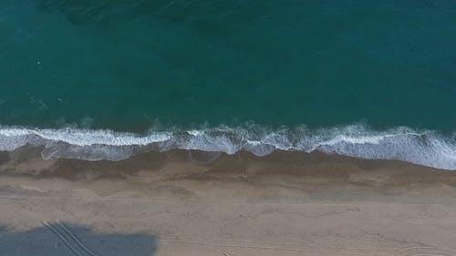 Drone Footage Of A Beach Coastline