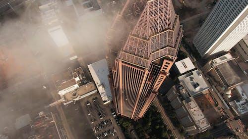 高层建筑的城市鸟瞰图