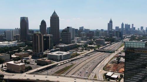 Aerial Footage Of The Cityscape Of Atlanta Georgia