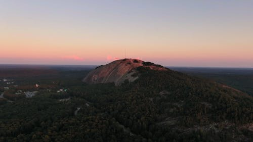View Of The Mountain At Sunset
