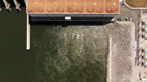 Drone Footage Of A Hydroelectric Dam