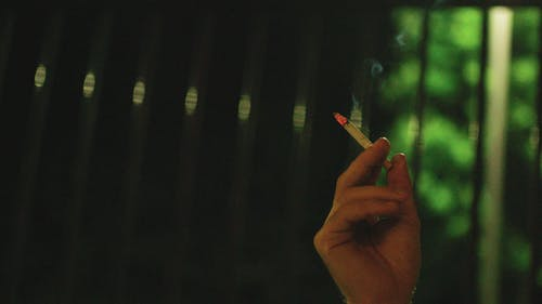 The Smoke Of A Cigarette On Lit