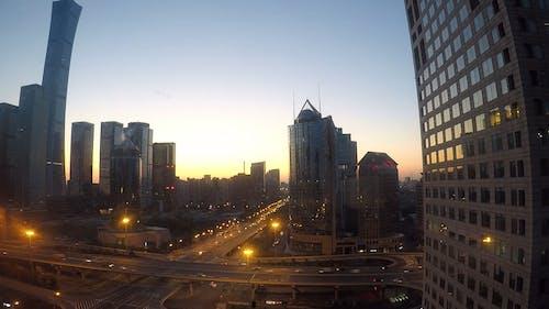 A Footage Of A Modern City