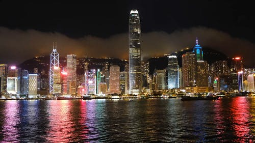 The View Of Hong Kong's Business District From The Victoria Harbor