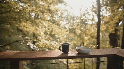 Breakfast On A Wooden Ledge