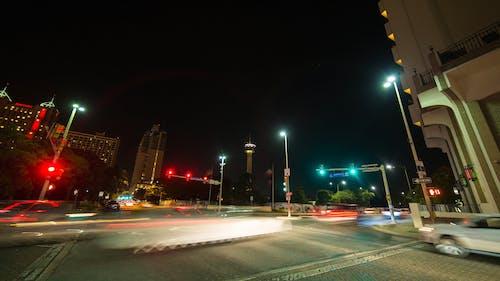 城市繁忙的十字路口