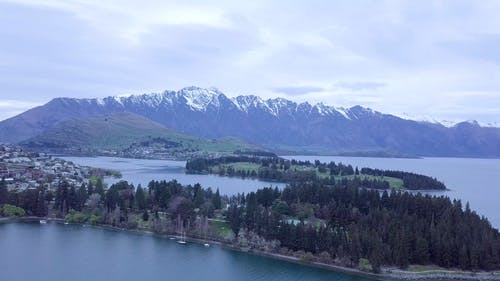 Aerial Footage Of The Scenic View Of  New Zealand Countryside
