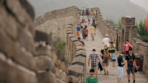 People In The Great Wall Of China
